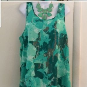 Mossimo green tank with racer back